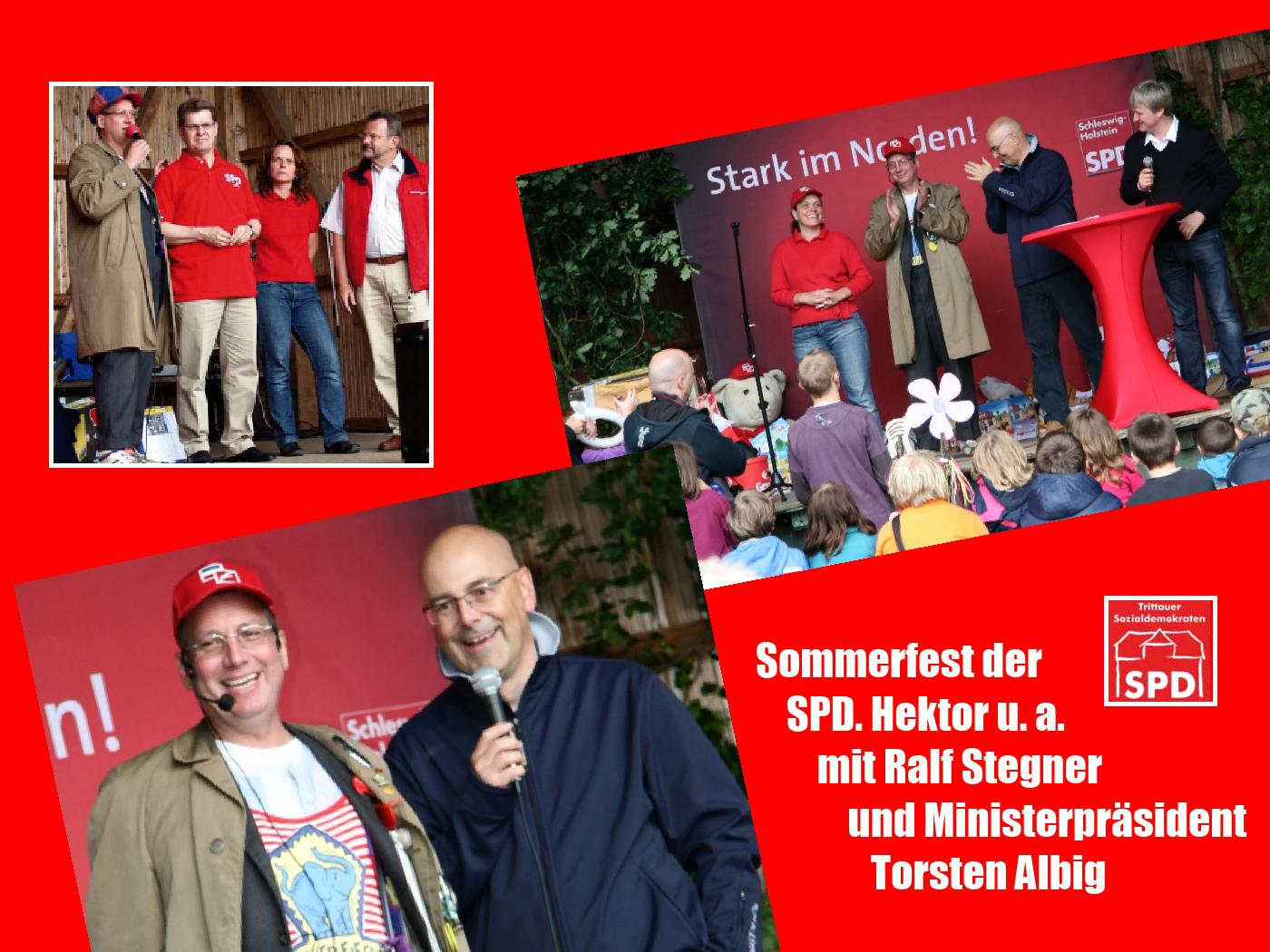 Hektor beim Sommerfest der SPD Trittau